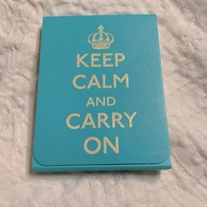 Keep Calm and Carry On Mini Notepad • never used